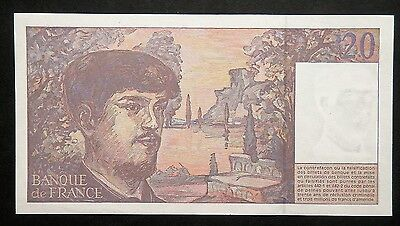 1997 Pre Euro French 20 Francs Banknote Extremely Fine