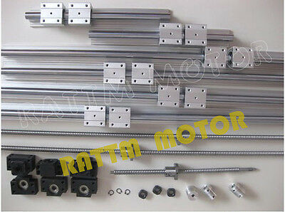 6 pcs SBR20 rails+3 ballscrew RM1605-350/650/1050mm+3 BK/BF12+3 coupler for CNC