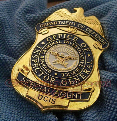 Souvenir Insignia Gift Department of Defense DCIS SPECIAL AGENTS Copper Badges