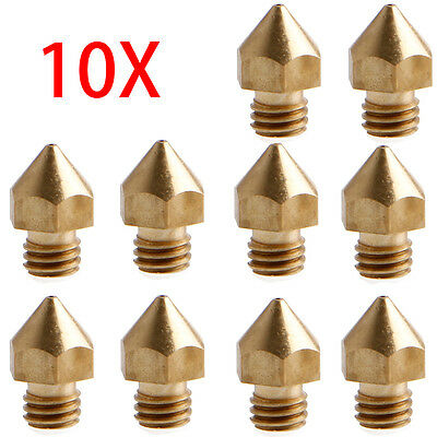 1/5/10PCS 0.6mm Extruder Brass Nozzle Print Head For 1.75mm MK8 3D Printer Lot