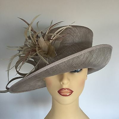 Ladies Occasion Wedding Races Mother Bride Hat Taupe by Personal Choice