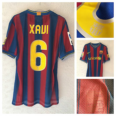 Barcelona Xavi match un worn - player issue home shirt 2009/10 - Medium