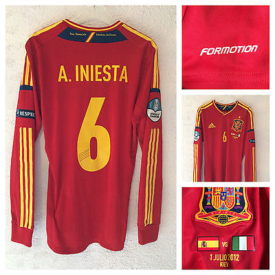 Spain 2012 Spain vs Italy  l/s formotion player issue - 6 Iniesta - Medium