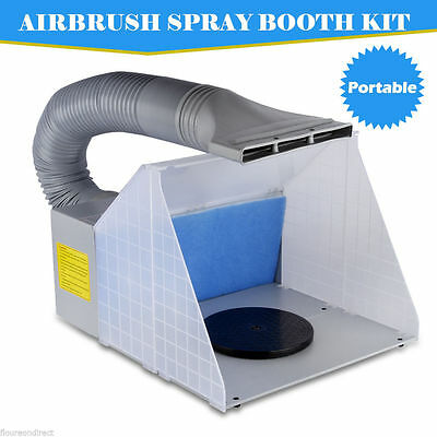 5 ft Portable Airbrush Spray Booth Kit Hose Filter Extractor Art Craft Paint