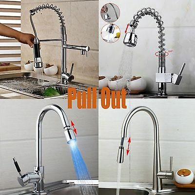 Pull Out Type Faucet Sink Tap Kitchen Faucets Spray Stream Convenient Basin