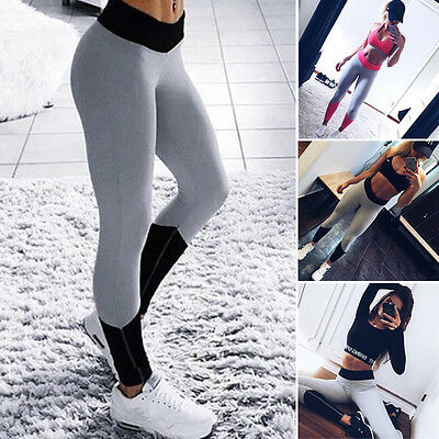Women Ladies Running Yoga Fitness Leggings Gym Exercise Sports Pants Trousers UK