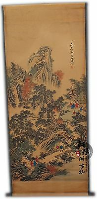 Rare antique chinese museum painting scroll Landscape mapTangyin/唐寅山水图