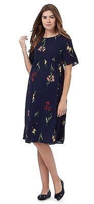 REDHERRING MATERNITY SHORT SLEEVE DRESS Size 10-20 ~BNWT~ NAVY/MEADOW PRINT £35