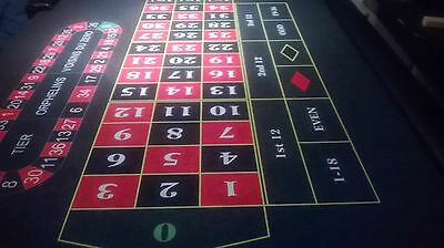 roulette table top 9ft x5ft