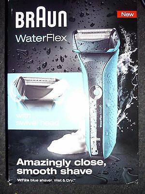Braun WaterFlex WF2S Wet & Dry Rechargeable Blue Shaver
