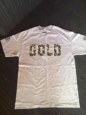 Gold skate chains t shirt grey 619