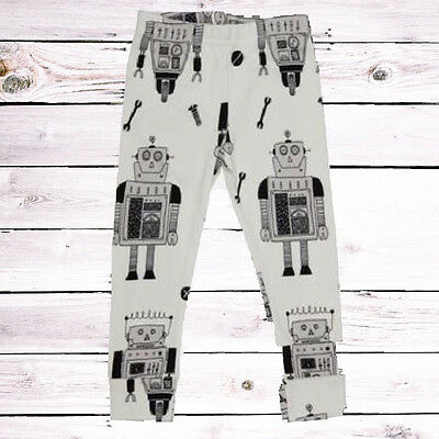 Tobias & The Bear Robot Print Leggings Baby Boy Girl 3-6 6-9 9-12 Months