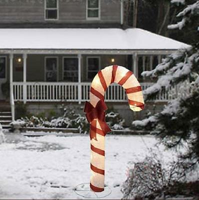 """72"""" Lighted Pre Lit Candy Cane Sculpture Outdoor Christmas Holiday Yard Decor"""