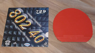 Friendship 729 R.I.T.C 802 40 Pimples Out Table Tennis Rubber - Red 2.0