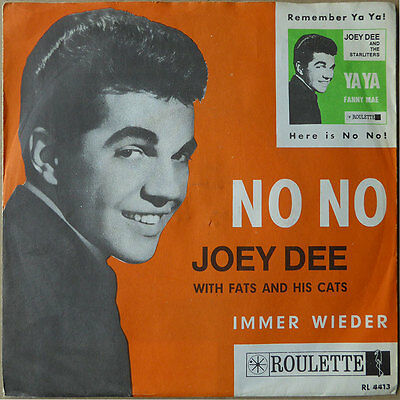 "7"" Joey Dee With Fats And His Cats - No No - Deutschland 1963 - NM - RARE"