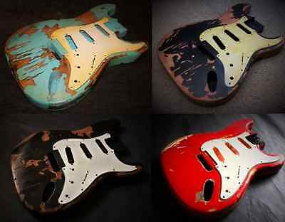 Heavy Relic Stratocaster Style Electric Guitar Bodies Various Nitro Colours