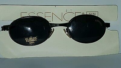 New Vintage Essence Diaco Black Metal Real Glass Sunglasses Made in France