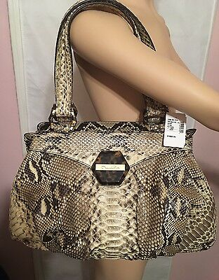 NEWWTAGS OSCAR DE LA RENTA Python Shoulder Bag/Hobo Reg $3147 BLACK FRIDAY Sale!