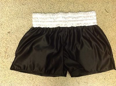 black and white ali short style boxing shorts waist 40 inch