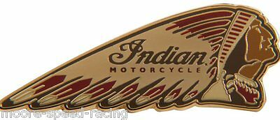 Indian Motorcycle Coloured Warbonnet Pin Badge headdress mens ladies womens gift