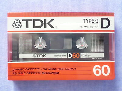 cassette tape TDK D 60 new and sealed made in  japan