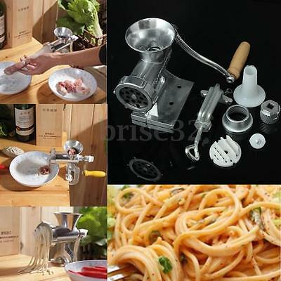 Steel Hand Iron Manual Meat Grinder Sausage Beef Mincer Table Kitchen Home Tool