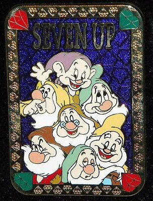 """""""NEW"""" Disney 7 DWARFS ~ Seven Up CARD GAME ~ Series Pin LE 100 Snow White DOPEY"""