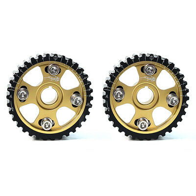 Golden Eagle Adjustable Cam Gears Set For 90-01 Honda/acura B16/b18/h23 Gold