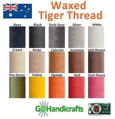 THE VERY BEST WAXED TIGER THREAD for HAND SEWING LEATHER STRONG LAYS FLAT
