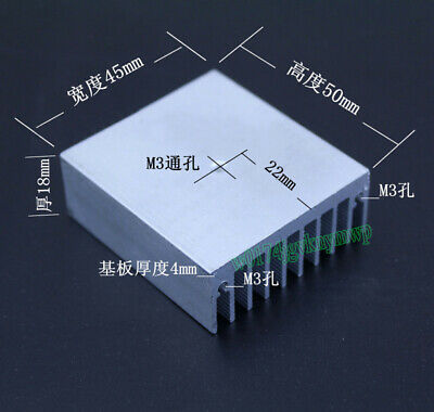 Aluminum Heat Sink Heatsink Radiator With M3 Hole For TO3P/220/247 50x45x18mm