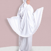 Siti Khadijah Exclusive Classic White Special 2.1 Prayer Outfit Scarf Telekung