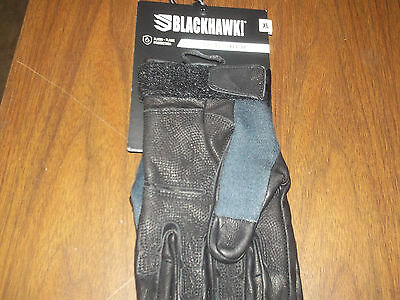NEW, Blackhawk, S.O.L.A.G. Full Finger Gloves with Kevlar, Black, XL, BH8114XLBK