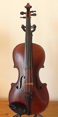 OFFER for  ANTIQUE  early c19th MITTENWALD GERMAN VIOLIN -  4/4  LOB 14 1/16""