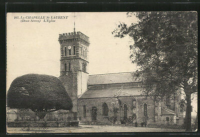 splendide CPA La Chapelle St-Laurent, L´Eglise 1931