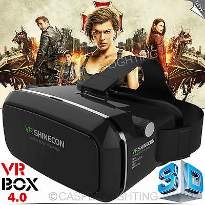 NEW 3D Virtual Reality VR Box Google Glasses Cardboard Remote Control Video Game