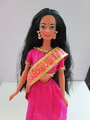 Vintage 90s BARBIE Dolls of the World Collection INDIA Mattel Indian Doll