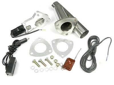 "STAINLESS UNIVERSAL EXHAUST CUTOUT-OUT VALVE E-CUT KIT REMOTE 2.25"" / 57mm"