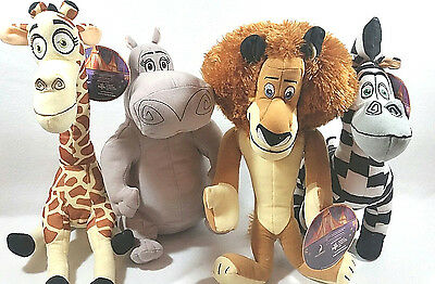 Madagascar 3 Complete Set Of 4 Dreamworks Stuffed Animal Plush Doll