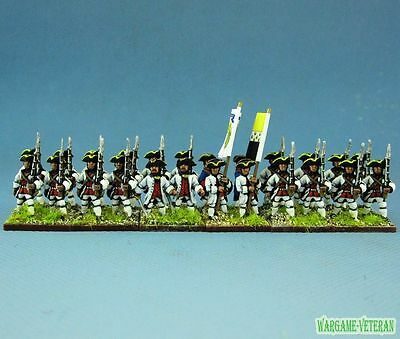 15mm SYW WGS Seven Years War painted French 29th Bretagne regiment Fa14