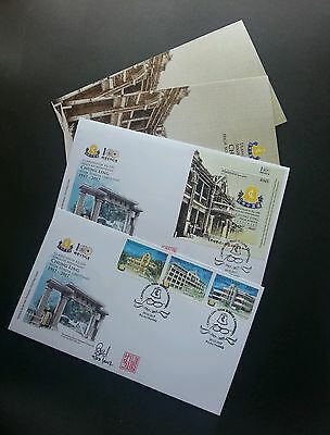 Malaysia Chung Ling High School Centenary 2017 FDC *signed embossed special chop