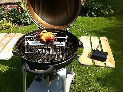 Barbecue BBQ Rotisserie Spit Grill -Even Use With Lid Closed