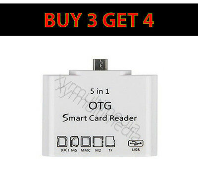 5 in 1 Micro USB OTG Micro SD Card Reader Camera Adapter Samsung LG HTC Sony