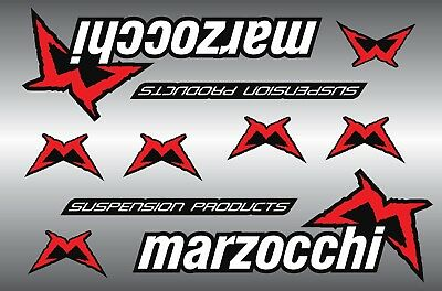 Marzocchi forks decals stickers sheet (cycling, mtb, bmx, road, bike) PRINTED