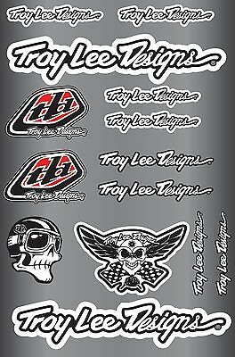 Troy lee designs decals stickers sheet (cycling, mtb, bmx, road, bike) PRINTED