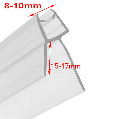 Shower Screen Seal Bath Bathroom (Glass Thickness 8-10mm Gap to Seal 15mm-17mm)
