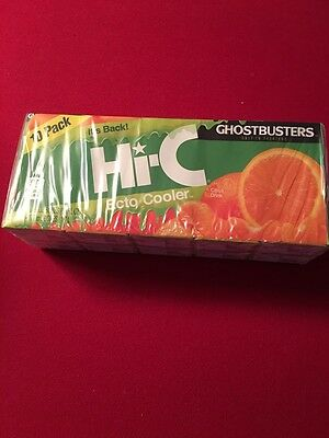 NEW SEALED Sold Out Hi C Ecto Cooler Limited Edition 10 Juice Boxes Ghostbusters