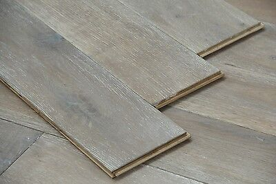 BEST QUALIT! Smoked & Brushed White Oiled Real Oak Flooring190x20/6mm Wood Floor