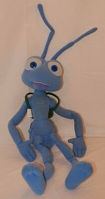 "Disney Pixar Bugs Life Flik Alarm Stuffed Plush Talks Shakes 24"" Thinkway Toys"