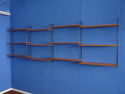 Elm String Nisse shelving system 12 shelves. Beautiful original condition. 60s