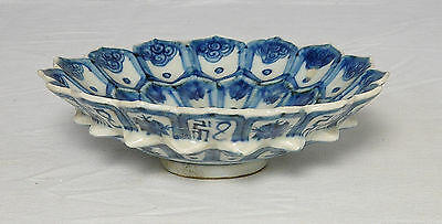 Chinese  Blue and White  Porcelain  Plate  With  Mark      M1150